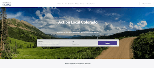 Action Local Colorado home page