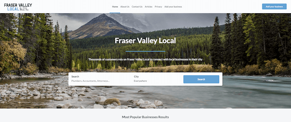 Fraser Valley Local home page