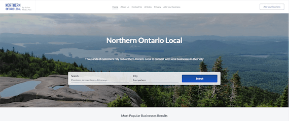 Northern Ontario Local home page
