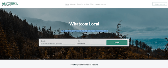 Whatcom Local home page